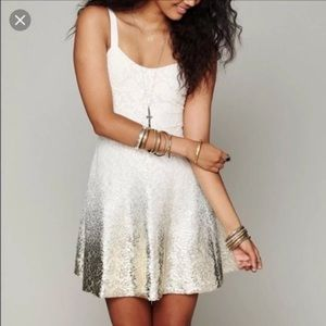 Free people Ombré silver dress!